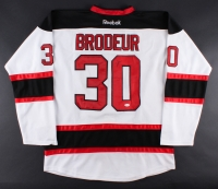 Martin Brodeur Signed Devils Stanley Cup Patch Hockey Jersey (JSA COA)