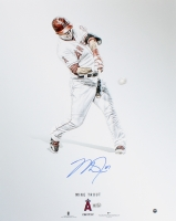 Mike Trout Signed Angels 16x20 Photo (MLB Hologram & Steiner COA)