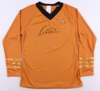 "William Shatner Signed Star Trek ""Captain James T. Kirk"" Prop Replica Uniform Shirt (PSA COA)"