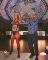 "Charlotte Flair & Ric Flair Signed 8x10 Photo Inscribed ""16x"" (JSA COA)"