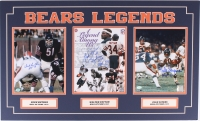 "18x30 Custom ""Bears Legends"" Matted Photo Display Signed By Dick Butkus, Walter Payton, & Gale Sayers with Hall of Fame Inscriptions (SOP COA & Payton COA)"