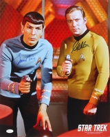 "Leonard Nimoy & William Shatner Signed ""Star Trek"" 16x20 Photo (JSA COA)"