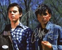 Ralph Macchio & C. Thomas Howell Signed 8x10 Photo (JSA COA)