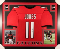 Julio Jones Signed Falcons 35x43 Custom Framed Jersey (JSA COA) at PristineAuction.com