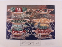 """Salvador Dali Signed Les Diners de Gala """"LES DELICES PETIT MARTYRS) THE DELICIOUS LITTLE MARTYRS"""" 28x33 LE 1977 Lithograph With Etching #E.A at PristineAuction.com"""