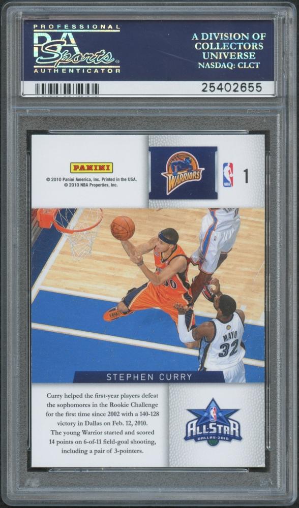2009 10 Panini Season Update Rookie Challenge 1 Stephen Curry PSA 7