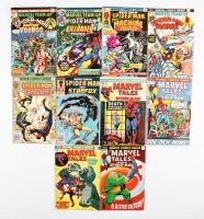Lot of (10) Vintage Marvel Comic Books with Marvel Tales & Marvel Team Up