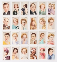 """1935 Gallaher """"Stars Of Screen & Stage"""" Complete Set of (48) Cigarette Cards with Laurel & Hardy, Gary Cooper, Ginger Rogers, Katherine Hepburn"""