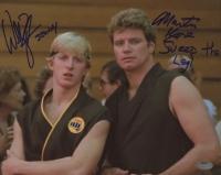 "William Zabka & Martin Kove Signed ""The Karate Kid"" 8x10 Photo Inscribed ""Sweep The Leg"" (Schwartz COA)"