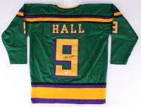 "Brandon Adams ""Jesse Hall"" Signed Mighty Ducks Custom Jersey (JSA COA)"