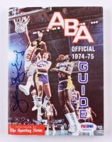 "Julius Erving Signed ""1974-75 American Basketball Association Guide"" Soft Cover Book (PSA COA)"