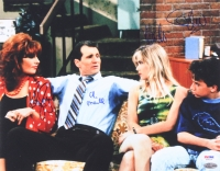 """""""Married With Children"""" 11x14 Photo Signed by (4) With Ed O'Neill, David Faustino, Christina Applegate & Katey Sagal (PSA LOA)"""