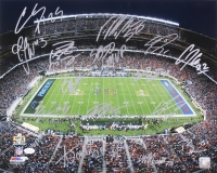 Broncos Super Bowl 50 Champions Signed 16x20 Photo with (15) Signatures Including Peyton Manning, Von Miller, Emmanuel Sanders, Max Garcia (JSA COA)