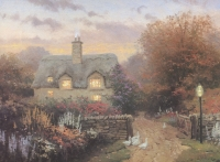 """Thomas Kinkade """"The Open Gate, Sussex"""" 7x9 Lithograph"""