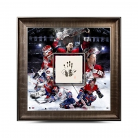 Patrick Roy Signed Canadiens 36x36 Custom Framed Tegata Display (UDA COA) at PristineAuction.com