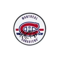 Patrick Roy Signed Montreal Canadiens Logo Hockey Puck (UDA COA) at PristineAuction.com