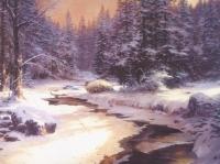 "Thomas Kinkade ""Winter's End"" 7x9 Lithograph"
