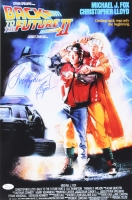 "Christopher Lloyd Signed ""Back To The Future II"" 12x18 Movie Poster (JSA)"