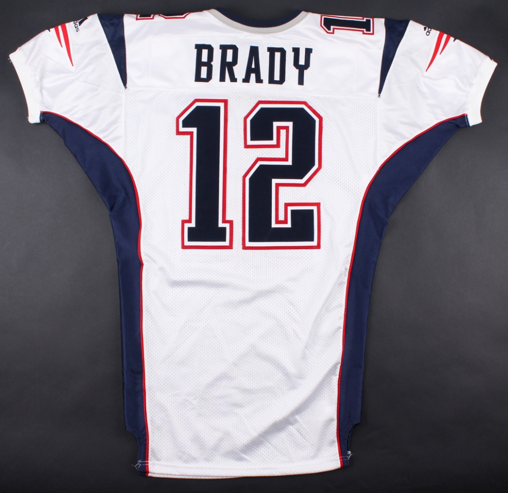 tom brady game used jersey