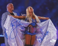 "Rick Flair & Charlotte Signed 8x10 Photo Inscribed ""16x"" (JSA COA) at PristineAuction.com"