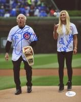 "Charlotte Flair & Ric Flair Signed 8x10 Photo Inscribed ""16x"" (JSA COA)"