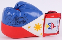 """Manny """"Pacman"""" Pacquiao Signed """"Flag of the Philippines"""" Boxing Glove (Pacquiao COA)"""