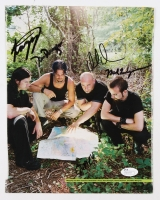 """Signed """"Disturbed"""" 8x10 Magazine Page Signed by (4) With Dan Donegan, David Draiman, Mike Wengren & John Moyer With Inscription (JSA COA)"""
