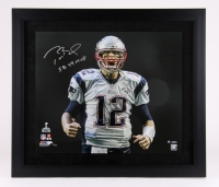 "Tom Brady Signed Patriots Limited Edition ""Super Bowl 49 Touch Down Scream"" 27x31 Custom Framed Photo Inscribed ""SB 49 MVP"" #12/12 (Steiner COA & Tristar Hologram) at PristineAuction.com"