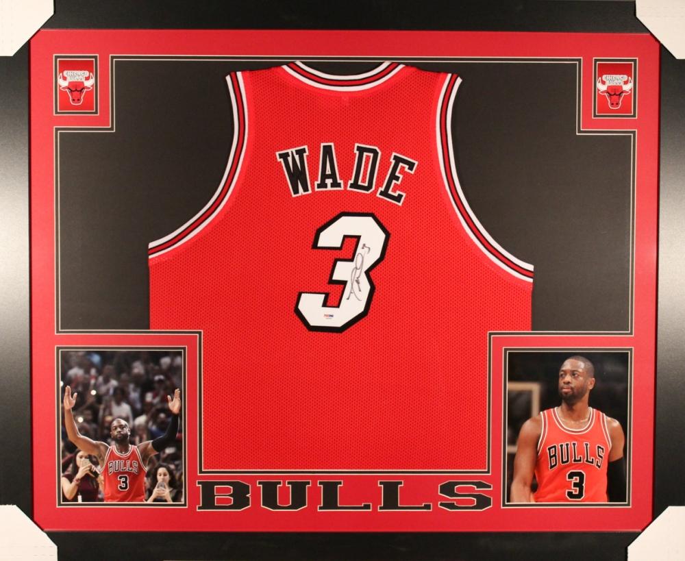 Dwyane Wade Signed Bulls 35x43 Custom Framed Jersey (PSA) At  PristineAuction.com