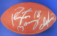 Official NFL Game Ball Signed by (4) with Peyton Manning, Joe Montana, Dan Marino & Tim Couch (JSA)