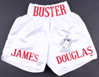 "James ""Buster"" Douglas Signed Boxing Shorts Inscribed ""Tyson KO 2-11-90"" (MAB Hologram)"