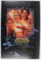 "Carrie Fisher Signed ""Star Wars"" 24"" x 36"" Movie Poster (PSA COA)"