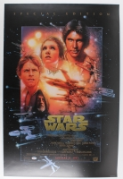 "Carrie Fisher Signed ""Star Wars"" 24x36 Movie Poster (PSA COA)"