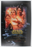 "Carrie Fisher Signed ""Star Wars"" 24x36 Movie Poster (PSA Hologram)"