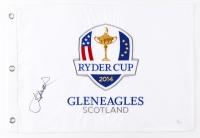 Jordan Spieth Signed 2014 Ryder Cup Pin Flag (JSA COA)