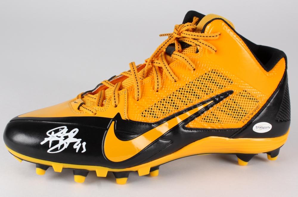2b6680d00e2 Troy Polamalu Signed Steelers Nike Football Shoe (TSE) at  PristineAuction.com