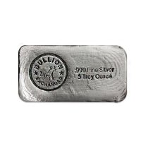 5 oz Bullion Silver Hand Poured Bar .999 Fine (Antiqued)