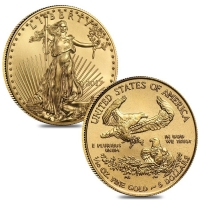 2017 1/10 oz Gold American Eagle $5 Coin