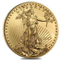 2017 1/10 oz Gold American Eagle $5 Coin (Brilliant Uncirculated Condition) at PristineAuction.com