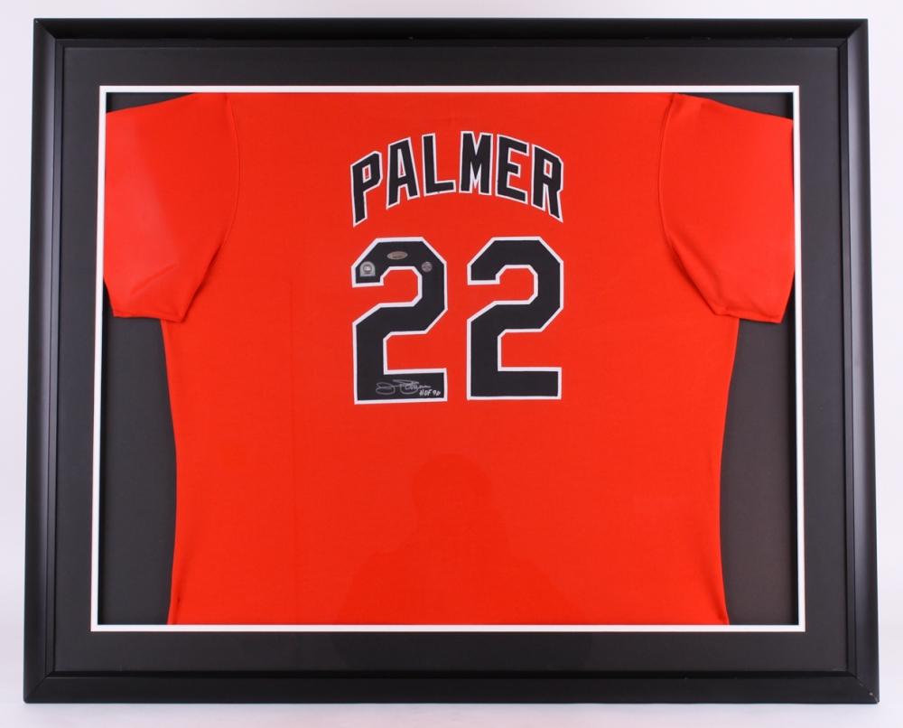 a5bd2159c Jim Palmer Signed Orioles 42x35 Custom Framed Jersey Display Inscribed