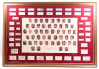 NBA 50 Greatest Players 1946-1996 45x65 Custom Framed Cut Display Signed by (50) With Michael Jordan, Magic Johnson, Larry Bird With Inscriptions (JSA LOA)