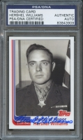 2010 Topps Medal of Honor Hershel Williams LE Autograph Trading Card (PSA Encapsulated)