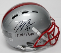 "Joey Bosa Signed Ohio State Buckeyes Full-Size Authentic Pro-Line Helmet Inscribed ""14' Natl Champs"" (JSA Hologram)"