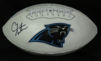 Cam Newton Signed Panthers Logo Football (GA COA) at PristineAuction.com
