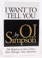 "OJ Simpson Limited Edition Signed Hardback Book ""I Want to Tell You"" (JSA COA)"