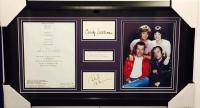 "Penny Marshall, Cindy Williams, David Lander & Michael McKean Signed ""Laverne & Shirley"" 16x28 Custom Framed Display (JSA LOA)"