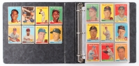 1958 Topps Complete Set of (494) Baseball Cards with #1 Ted Williams, #5 Willie Mays, #30 Hank Aaron, #47 Roger Maris RC, #52A Roberto Clemente, #150 Mickey Mantle, #433A Pancho Herrera, #418 World Series Batting Foes / Mickey Mantle / Hank Aaron