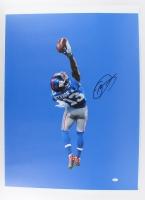 "Odell Beckham Jr. Signed Giants ""The Catch"" 24x33 Photo on Canvas (JSA COA)"