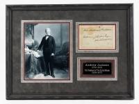 Andrew Jackson Signed 16x22 Custom Framed Museum Quality Cut Display (JSA ALOA)