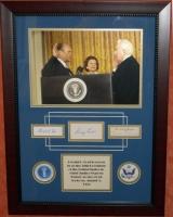 Gerald Ford, Betty Ford, & Warren Bunger Signed 21x28 Custom Framed Cut Display (JSA LOA)